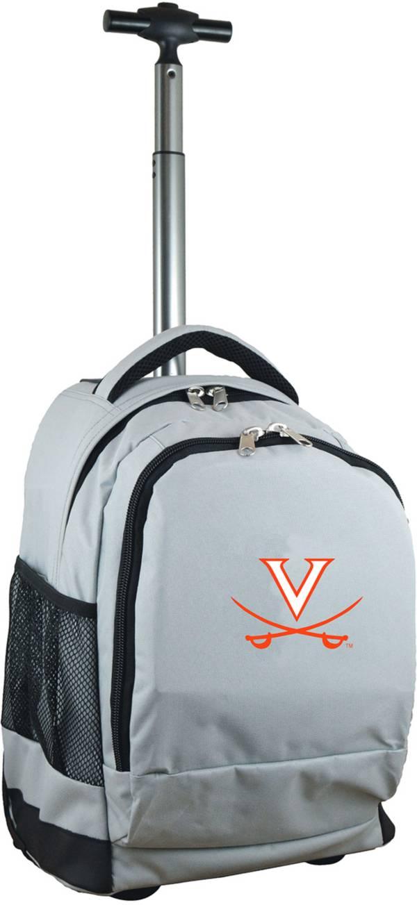 Mojo Virginia Cavaliers Wheeled Premium Grey Backpack product image