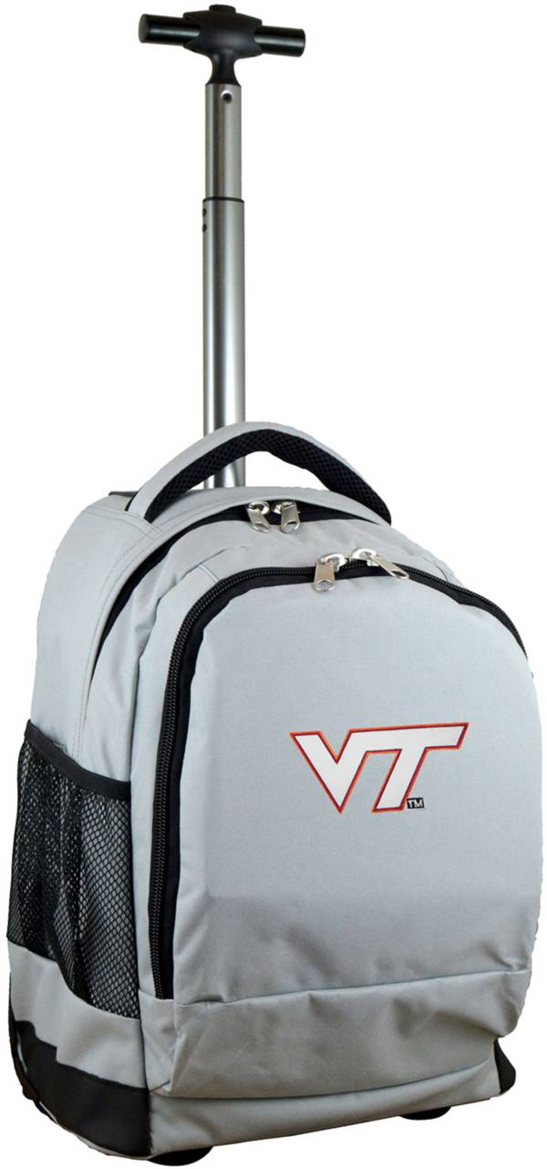 Mojo Virginia Tech Hokies Wheeled Premium Grey Backpack product image