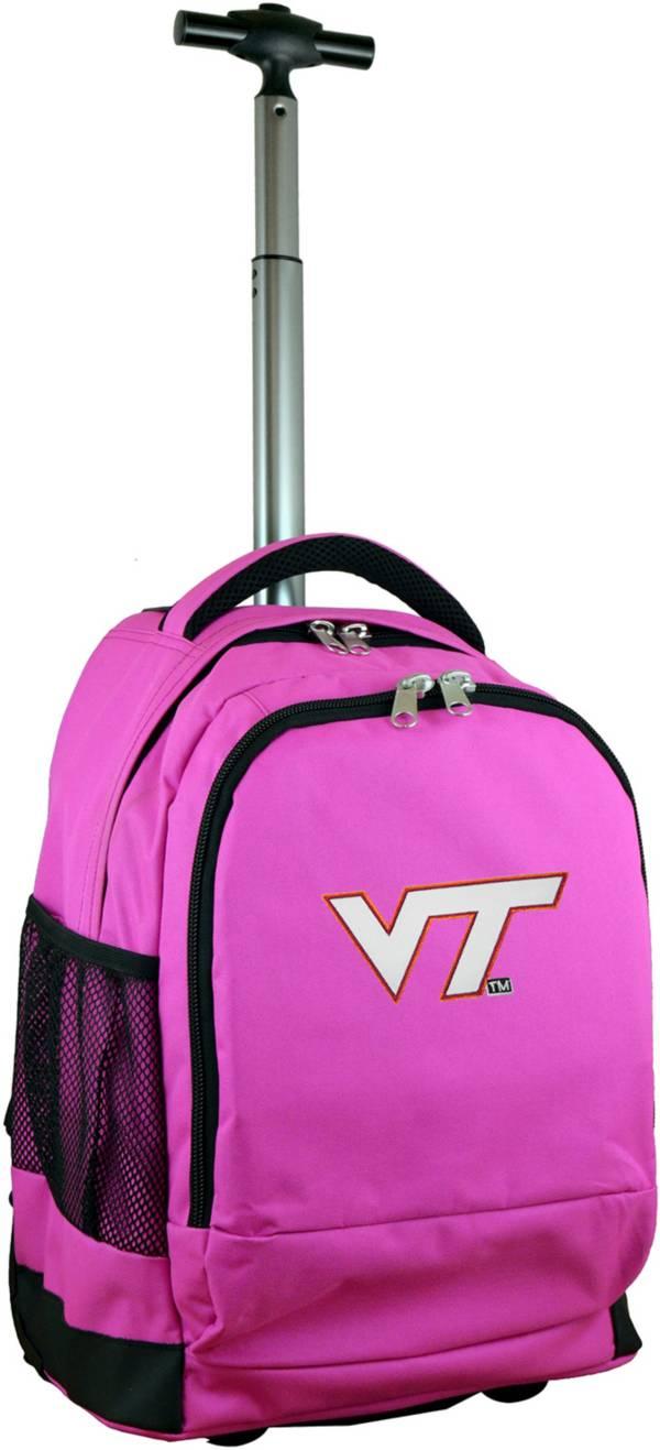 Mojo Virginia Tech Hokies Wheeled Premium Pink Backpack product image