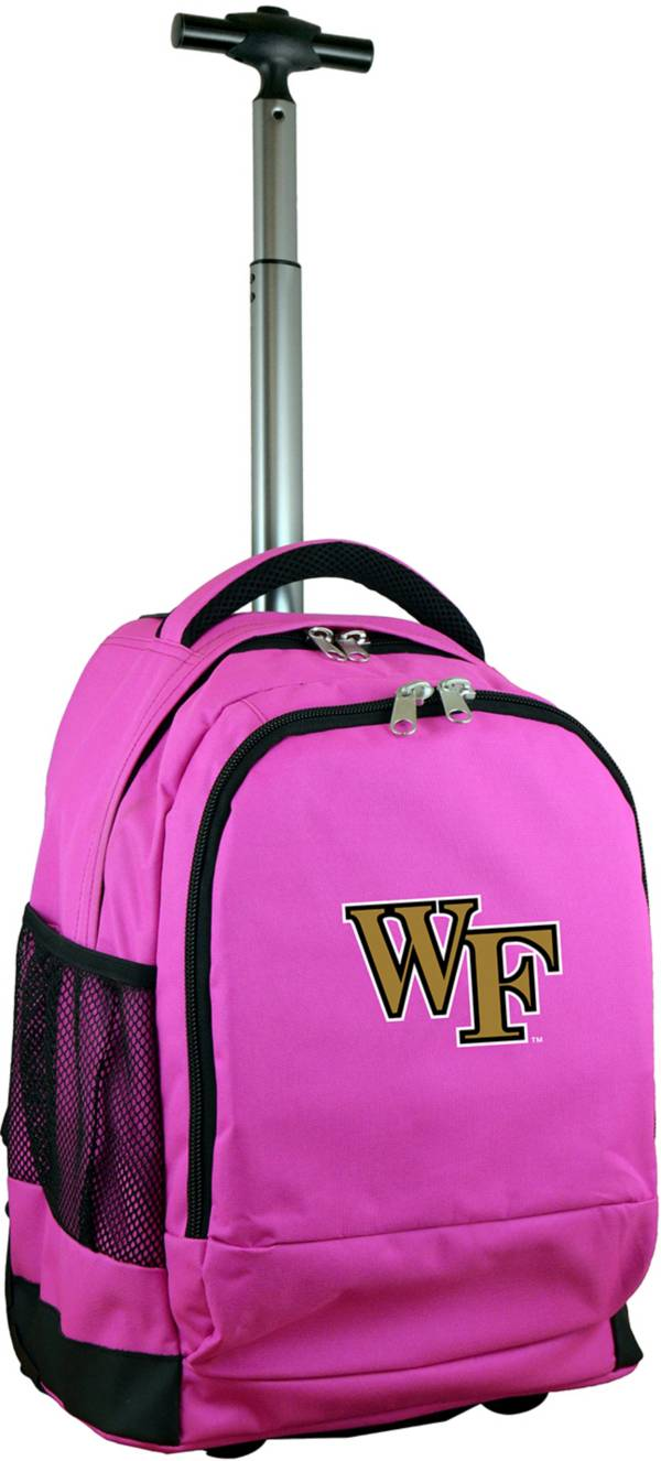 Mojo Wake Forest Demon Deacons Wheeled Premium Pink Backpack product image