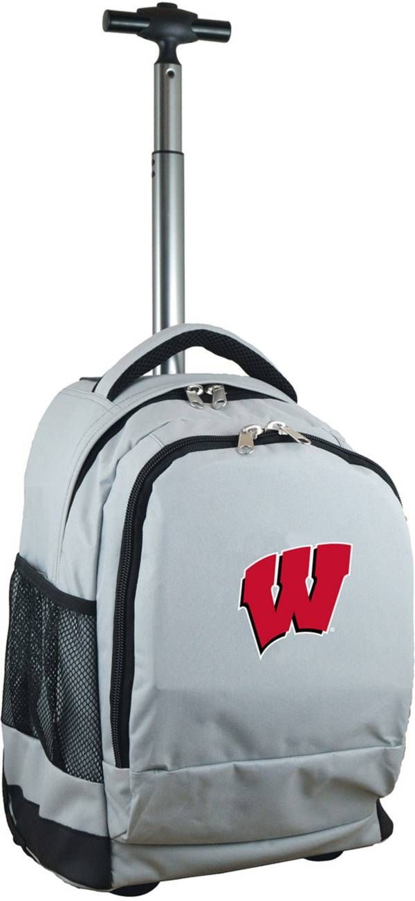 Mojo Wisconsin Badgers Wheeled Premium Grey Backpack product image