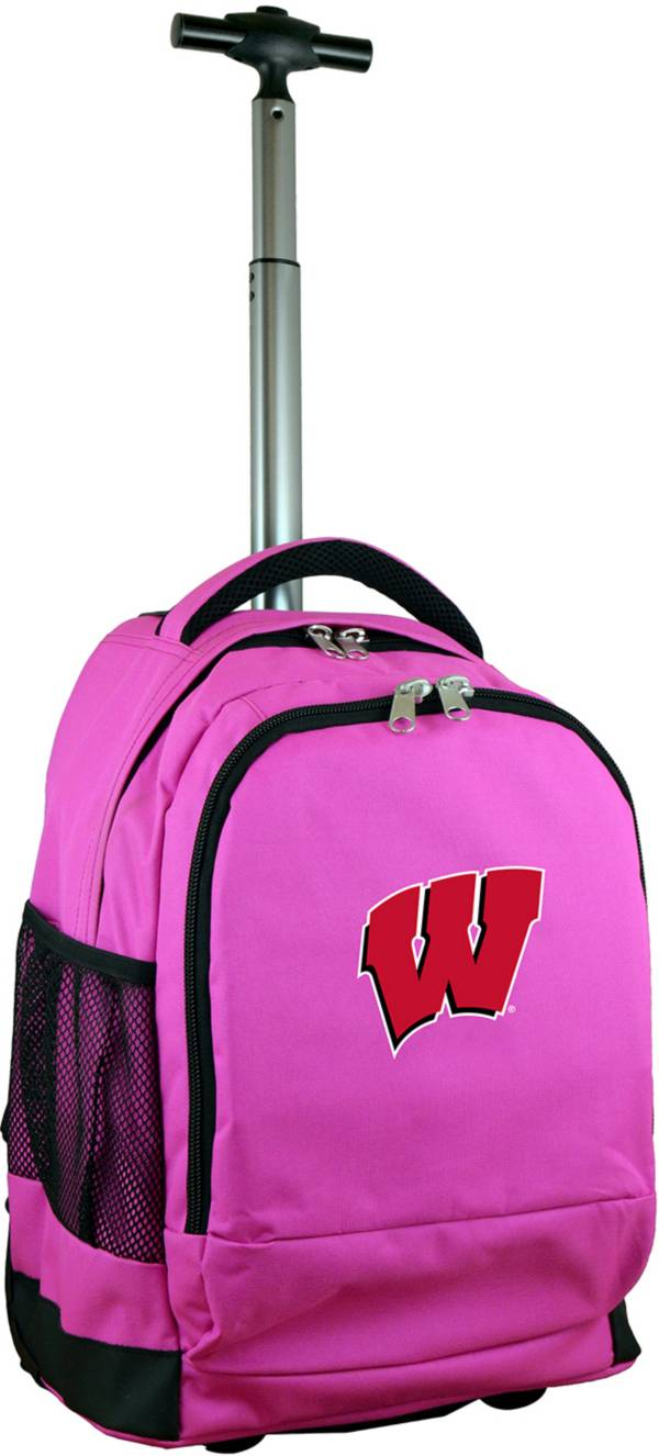 Mojo Wisconsin Badgers Wheeled Premium Pink Backpack product image