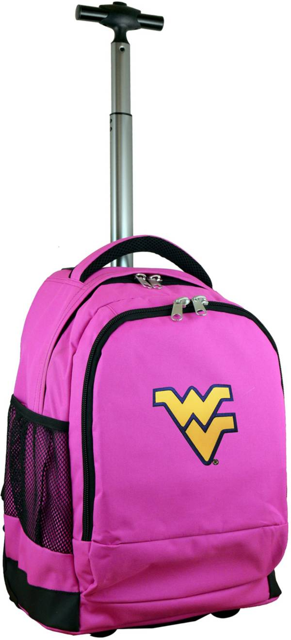 Mojo West Virginia Mountaineers Wheeled Premium Pink Backpack product image