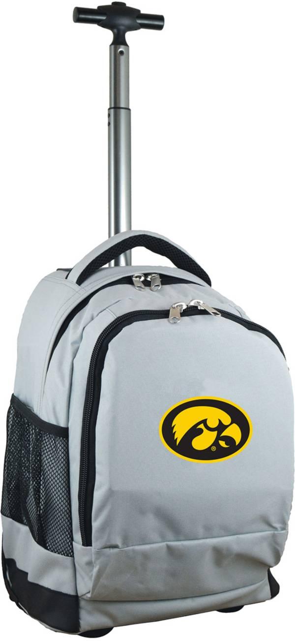 Mojo Iowa Hawkeyes Wheeled Premium Grey Backpack product image