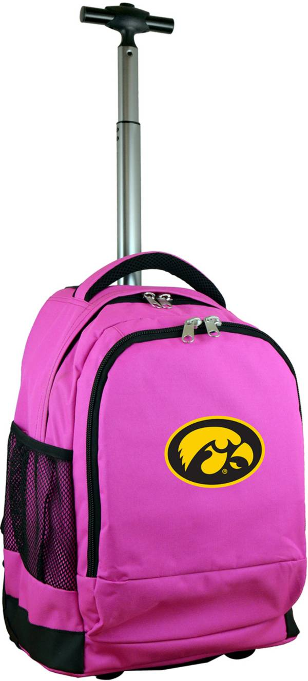 Mojo Iowa Hawkeyes Wheeled Premium Pink Backpack product image