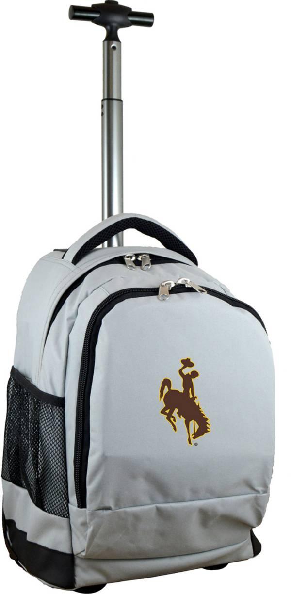 Mojo Wyoming Cowboys Wheeled Premium Grey Backpack product image