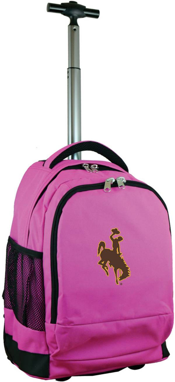 Mojo Wyoming Cowboys Wheeled Premium Pink Backpack product image