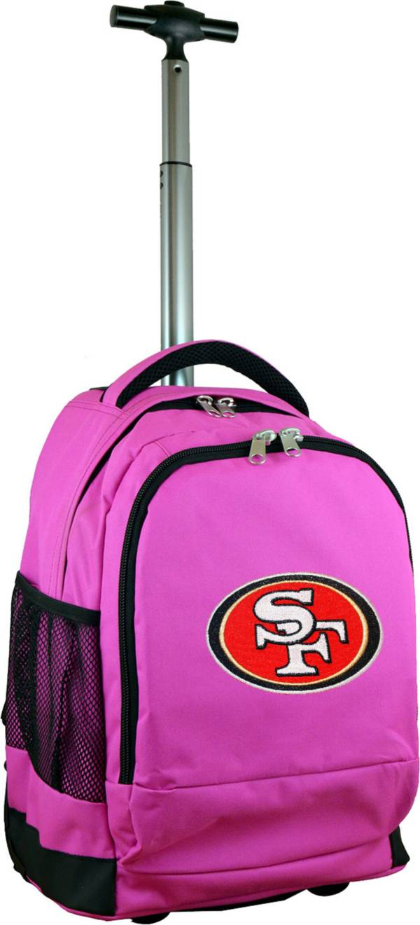 Mojo San Francisco 49ers Wheeled Premium Pink Backpack product image