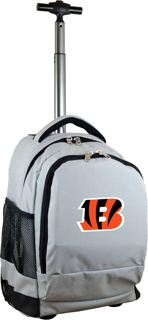 Mojo Cincinnati Bengals Wheeled Premium Grey Backpack product image