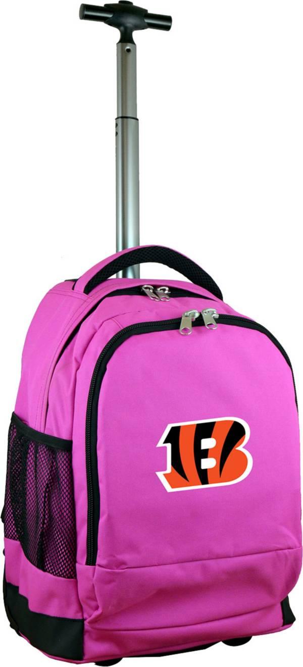 Mojo Cincinnati Bengals Wheeled Premium Pink Backpack product image