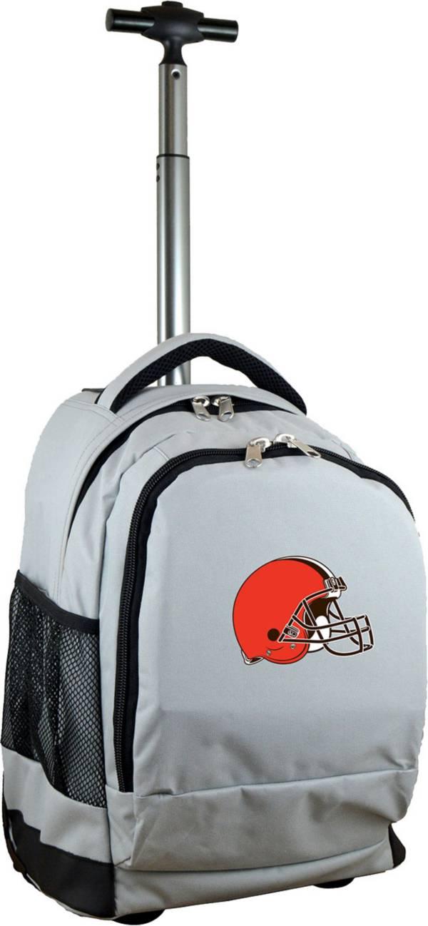 Mojo Cleveland Browns Wheeled Premium Grey Backpack product image