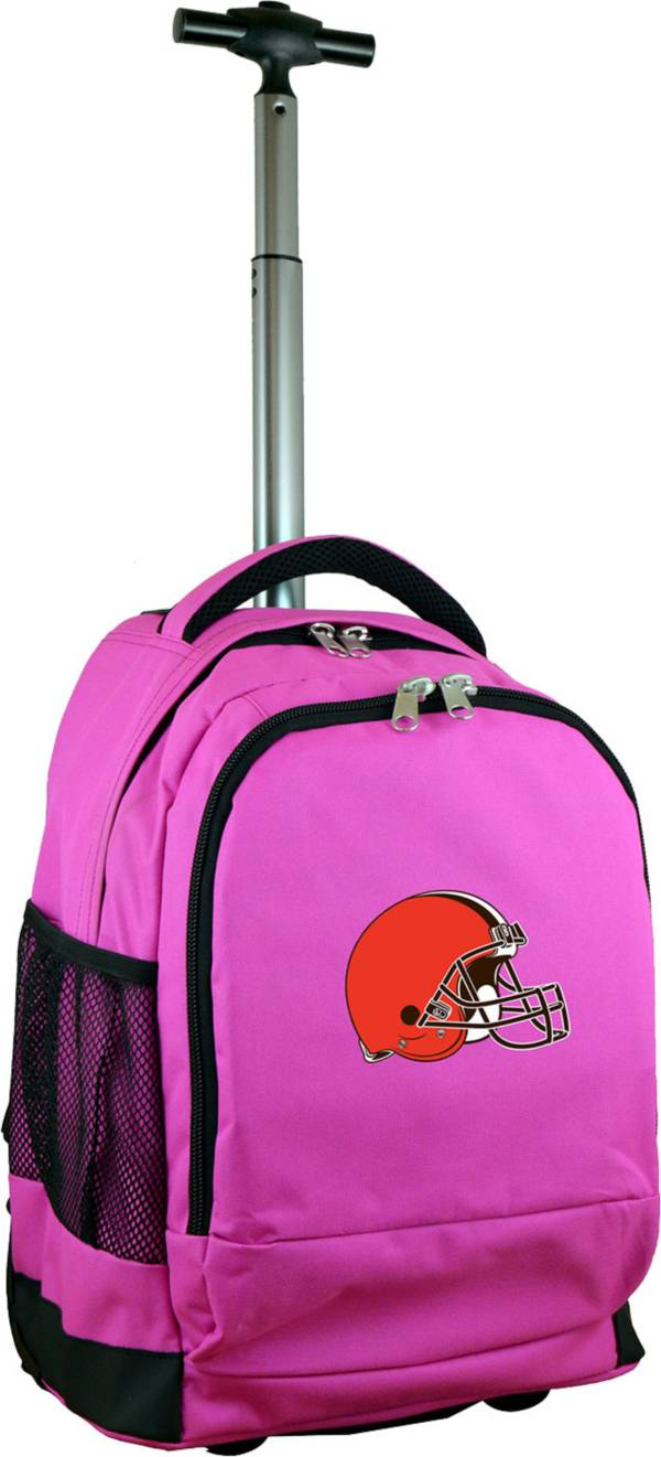Mojo Cleveland Browns Wheeled Premium Pink Backpack product image