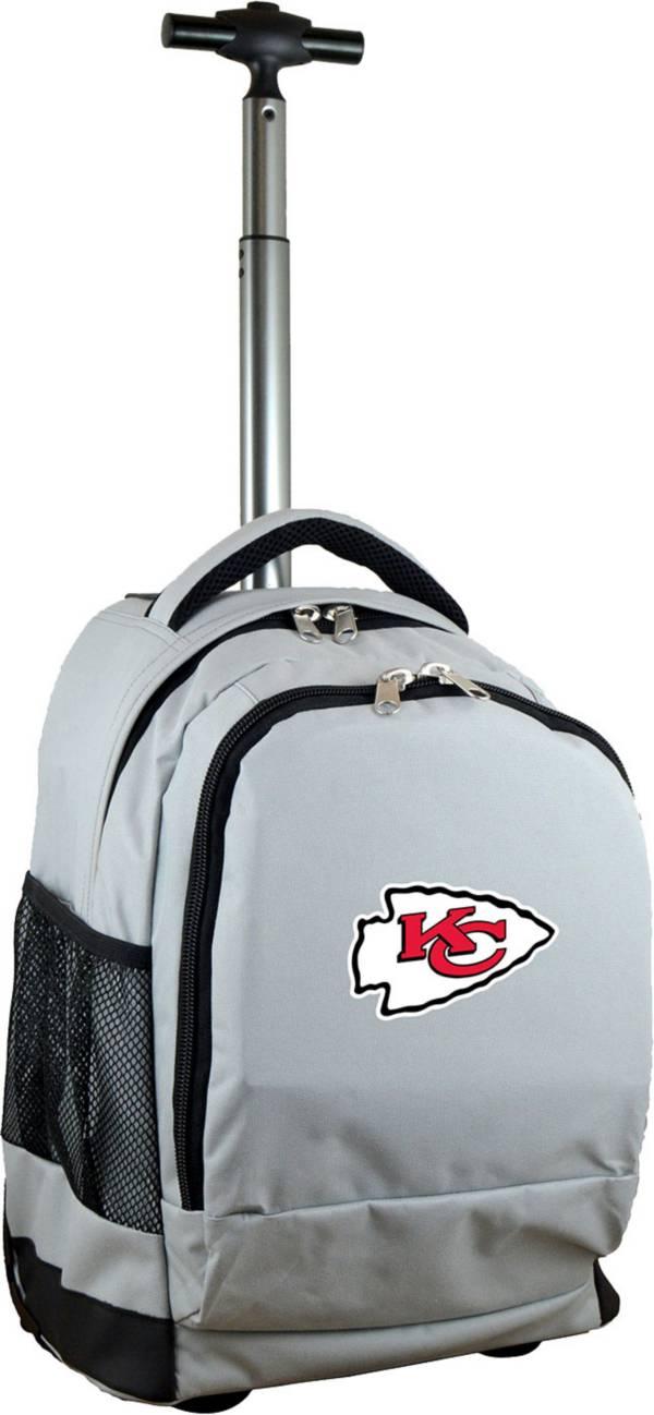 Mojo Kansas City Chiefs Wheeled Premium Grey Backpack product image