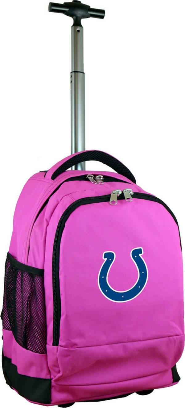 Mojo Indianapolis Colts Wheeled Premium Pink Backpack product image