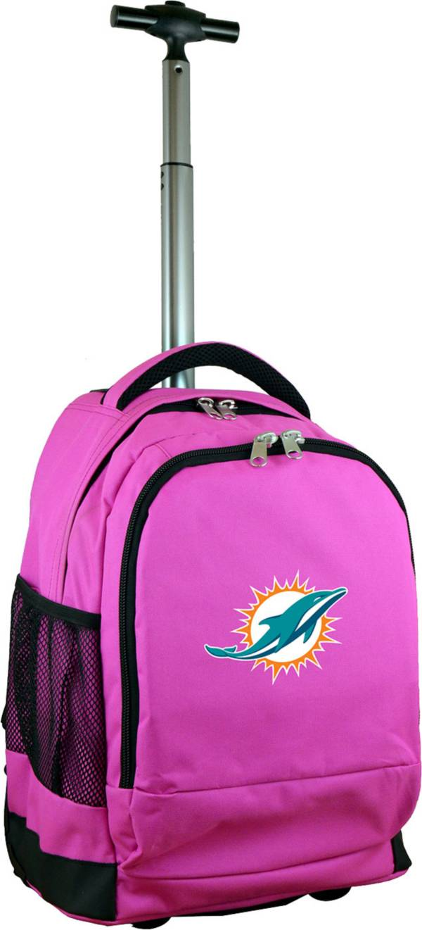 Mojo Miami Dolphins Wheeled Premium Pink Backpack product image