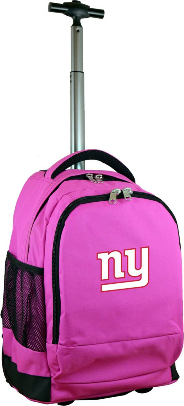 Mojo New York Giants Wheeled Premium Pink Backpack product image