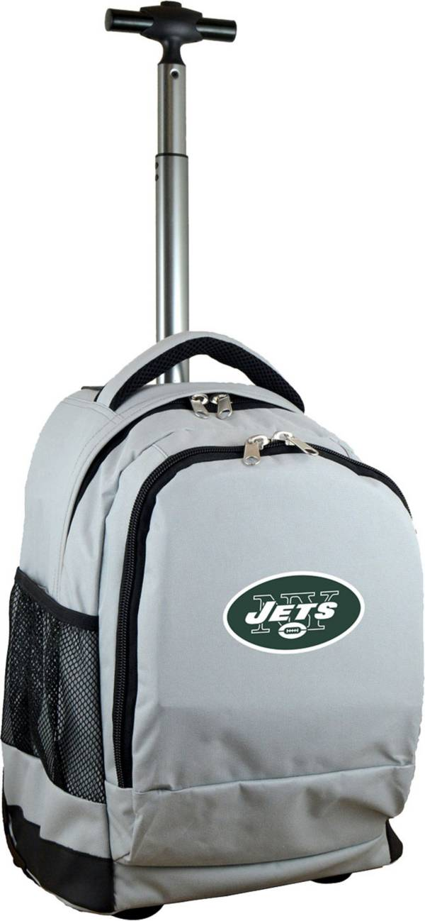 Mojo New York Jets Wheeled Premium Grey Backpack product image