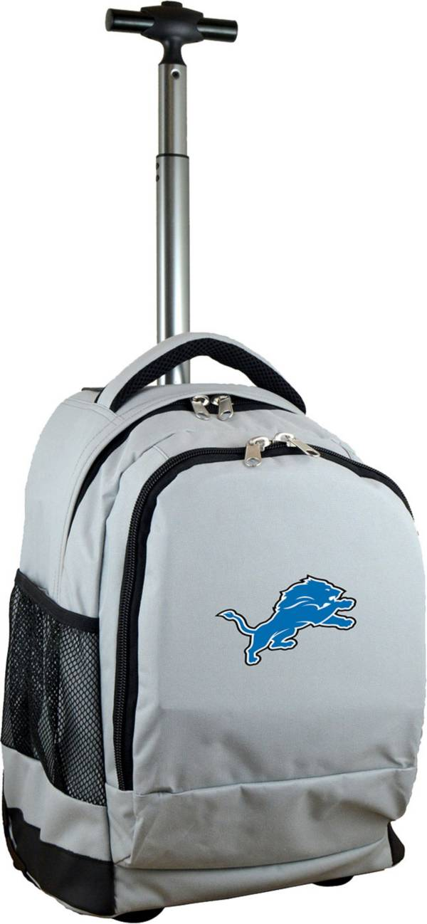 Mojo Detroit Lions Wheeled Premium Grey Backpack product image