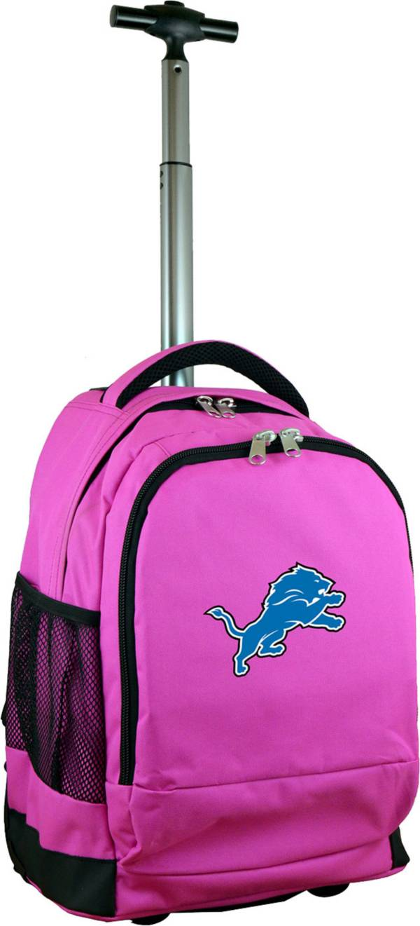 Mojo Detroit Lions Wheeled Premium Pink Backpack product image