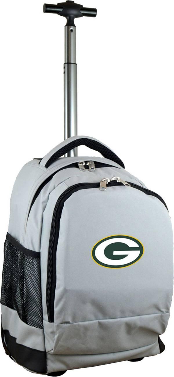 Mojo Green Bay Packers Wheeled Premium Grey Backpack product image