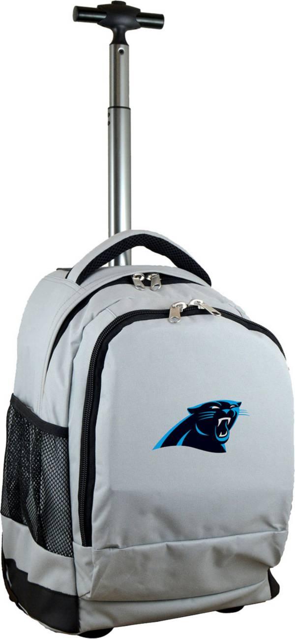 Mojo Carolina Panthers Wheeled Premium Grey Backpack product image
