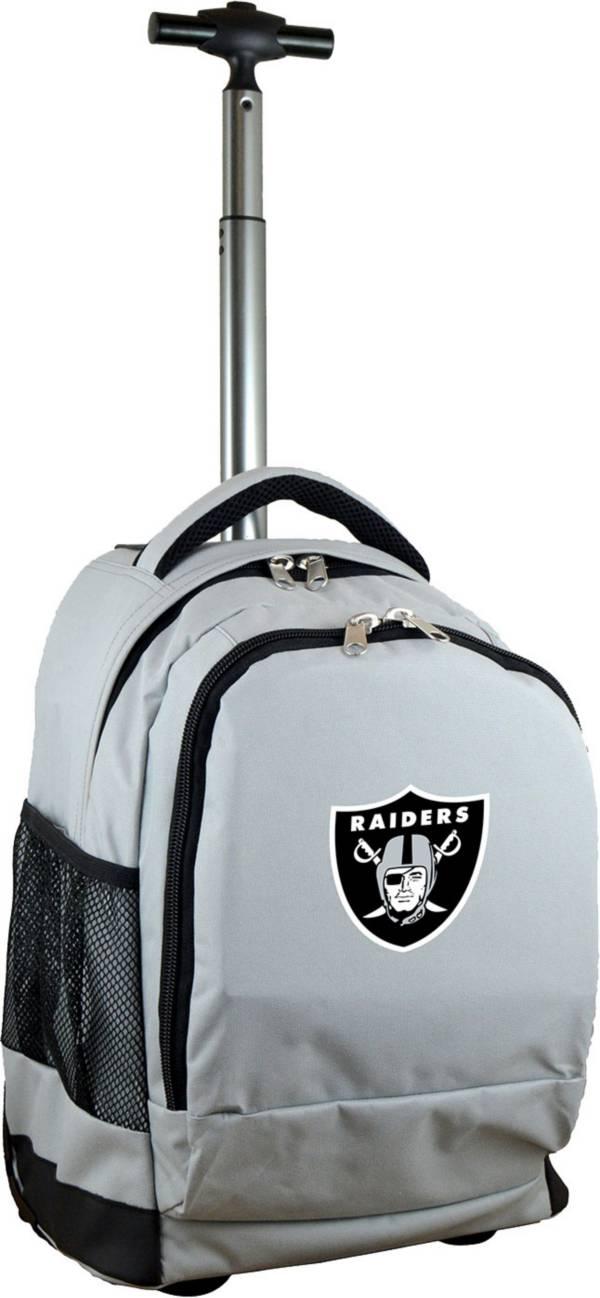 Mojo Las Vegas Raiders Wheeled Premium Grey Backpack product image