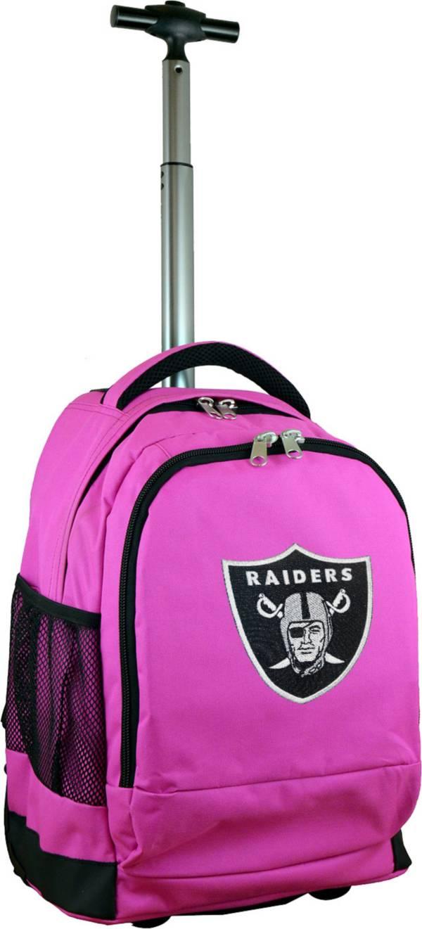 Mojo Oakland Raiders Wheeled Premium Pink Backpack product image