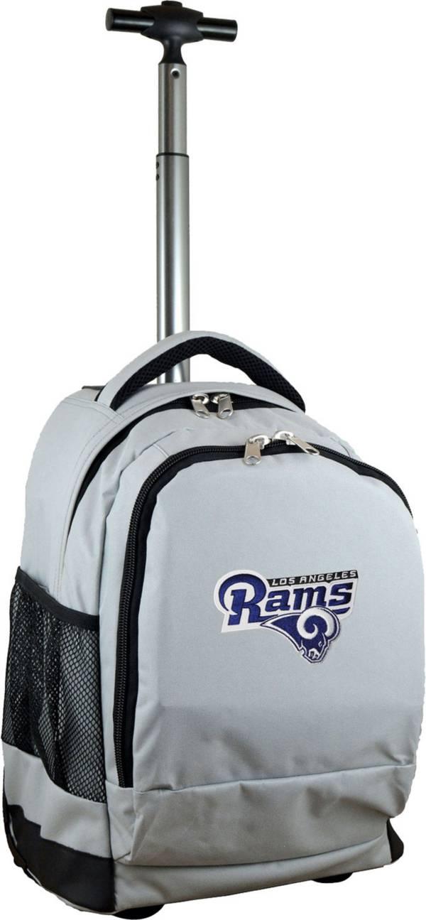 Mojo Los Angeles Rams Wheeled Premium Grey Backpack product image