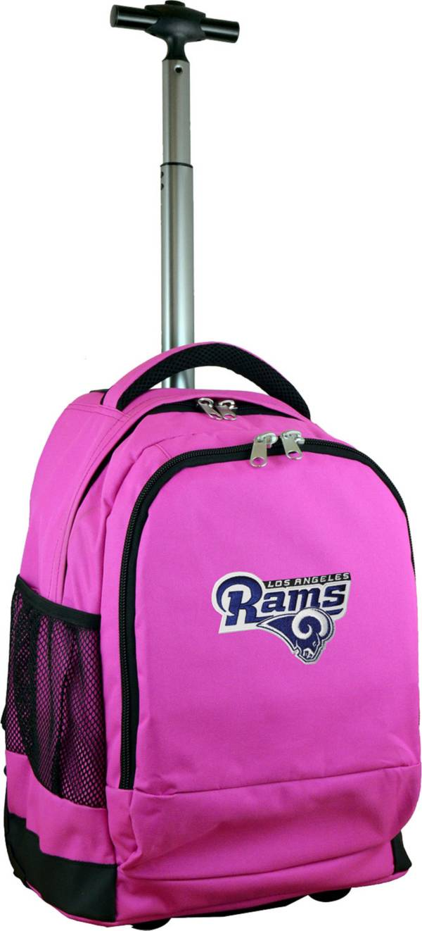 Mojo Los Angeles Rams Wheeled Premium Pink Backpack product image
