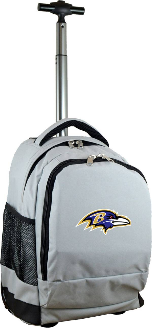 Mojo Baltimore Ravens Wheeled Premium Grey Backpack product image