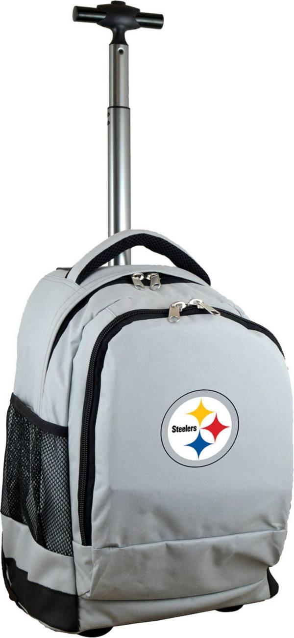 Mojo Pittsburgh Steelers Wheeled Premium Grey Backpack product image