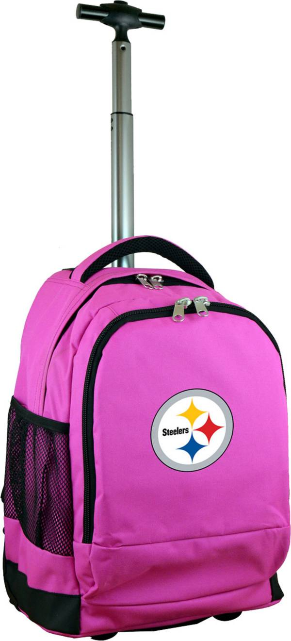 Mojo Pittsburgh Steelers Wheeled Premium Pink Backpack product image