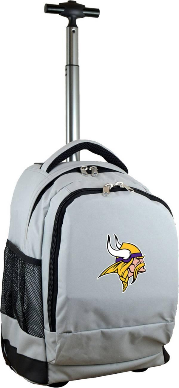 Mojo Minnesota Vikings Wheeled Premium Grey Backpack product image