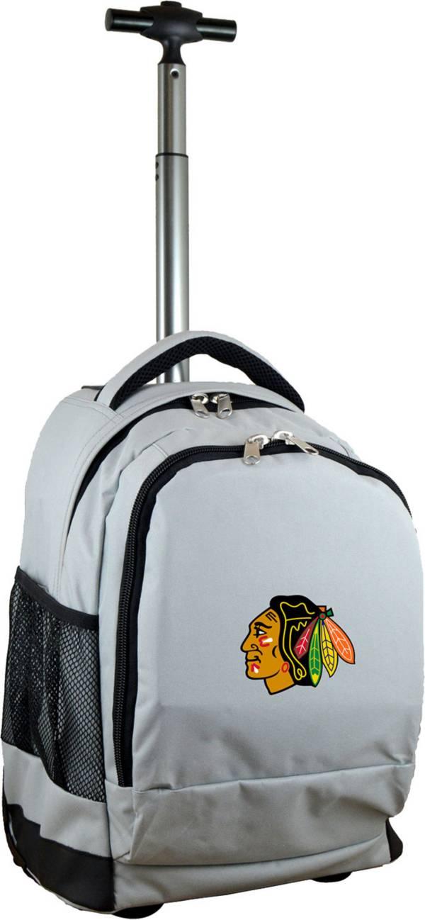 Mojo Chicago Blackhawks Wheeled Premium Grey Backpack product image