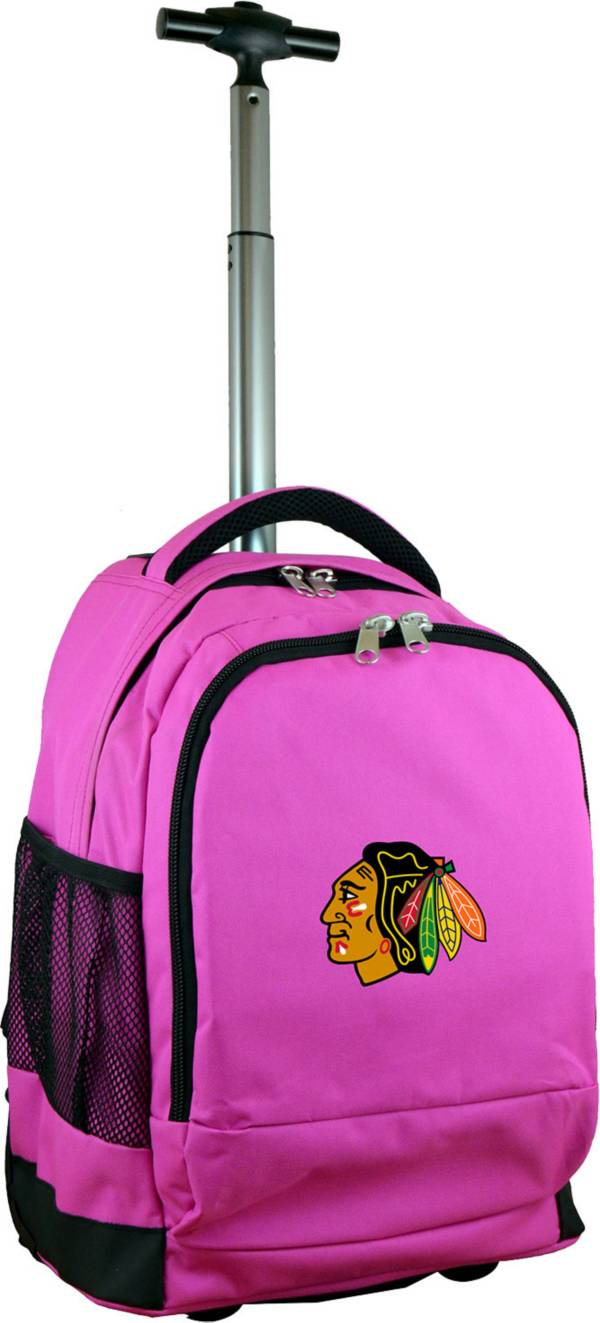 Mojo Chicago Blackhawks Wheeled Premium Pink Backpack product image