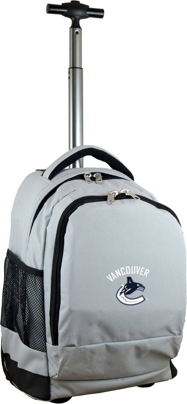 Mojo Vancouver Canucks Wheeled Premium Grey Backpack product image