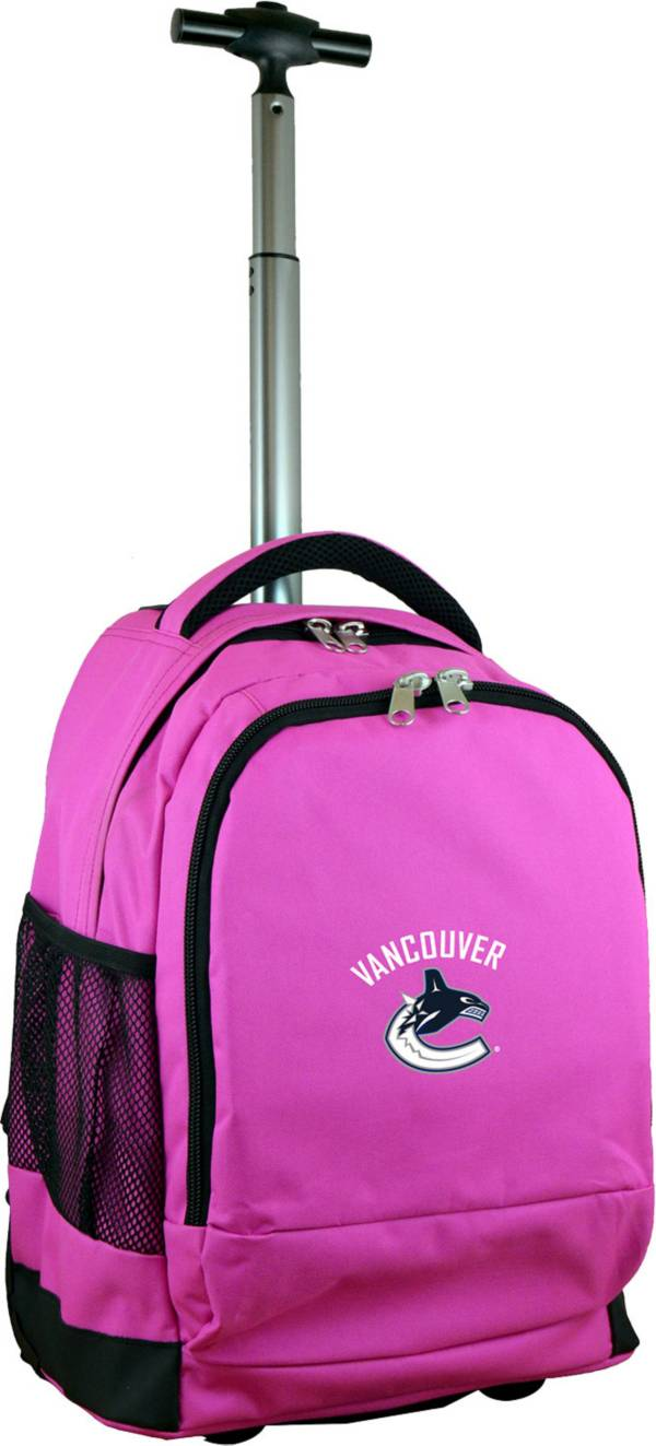Mojo Vancouver Canucks Wheeled Premium Pink Backpack product image