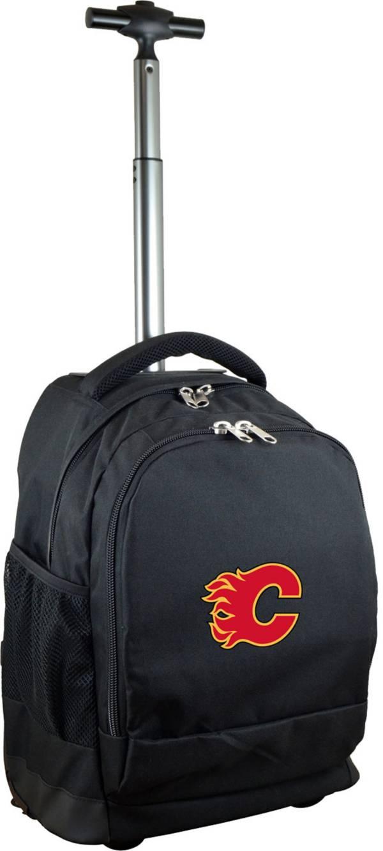 Mojo Calgary Flames Wheeled Premium Black Backpack product image