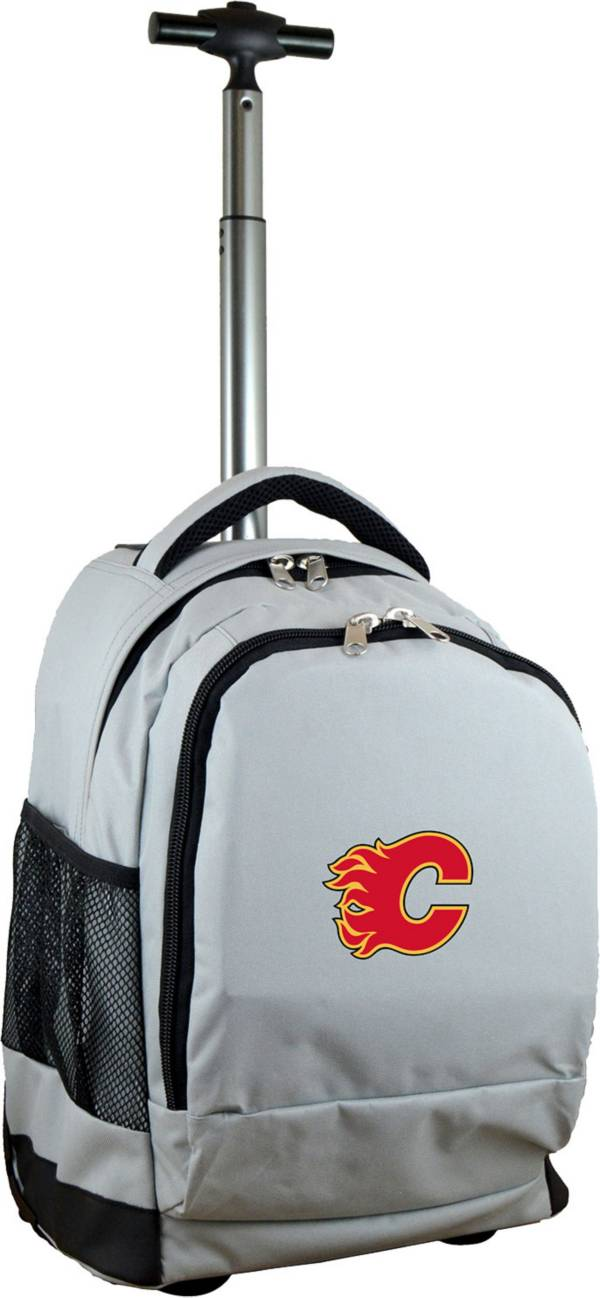 Mojo Calgary Flames Wheeled Premium Grey Backpack product image