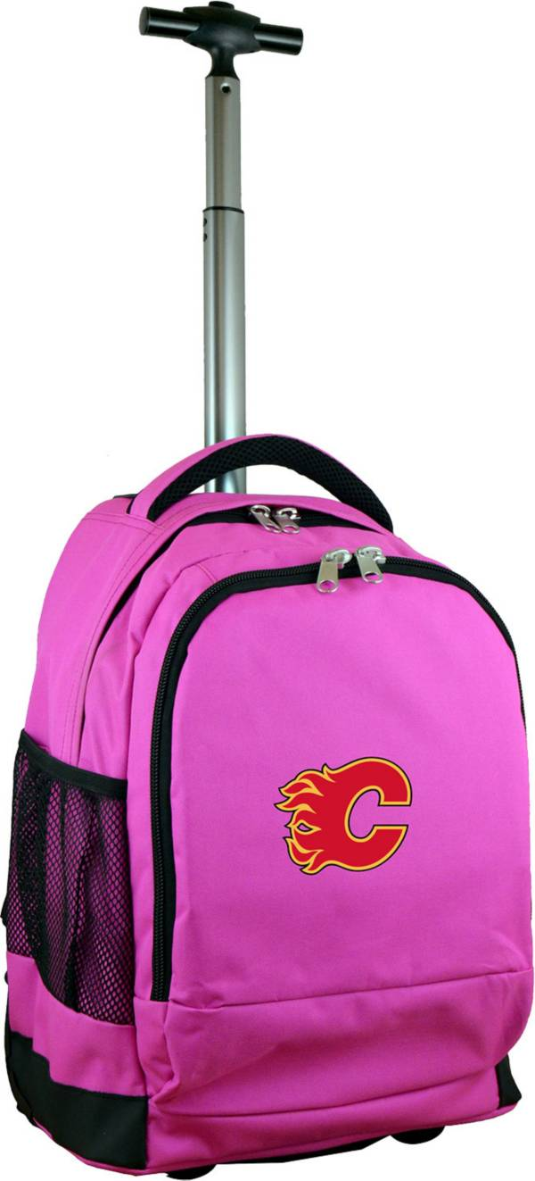 Mojo Calgary Flames Wheeled Premium Pink Backpack product image
