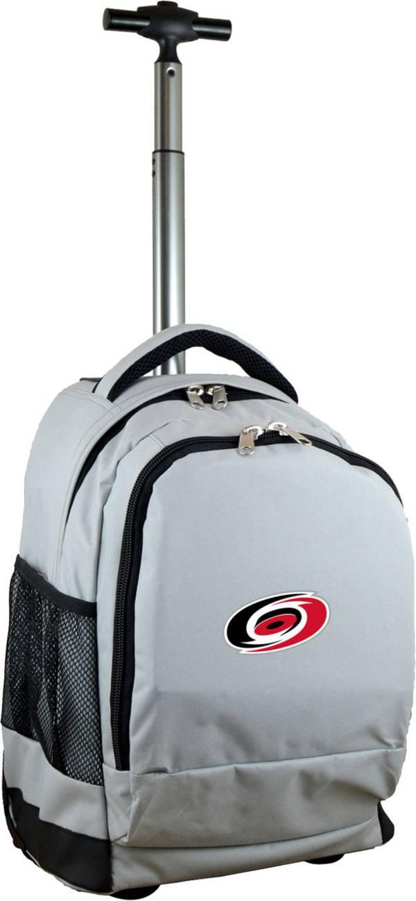 Mojo Carolina Hurricanes Wheeled Premium Grey Backpack product image
