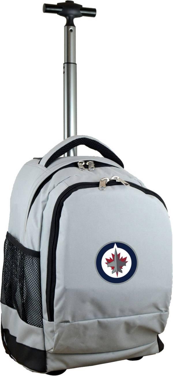 Mojo Winnipeg Jets Wheeled Premium Grey Backpack product image