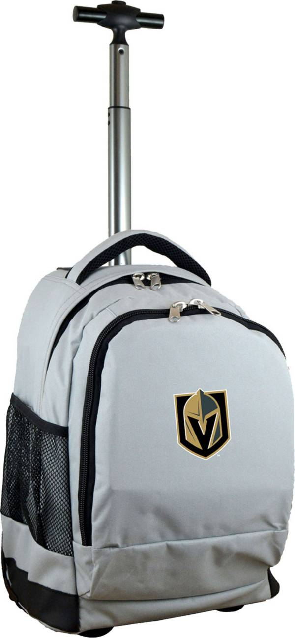 Mojo Vegas Golden Knights Wheeled Premium Grey Backpack product image