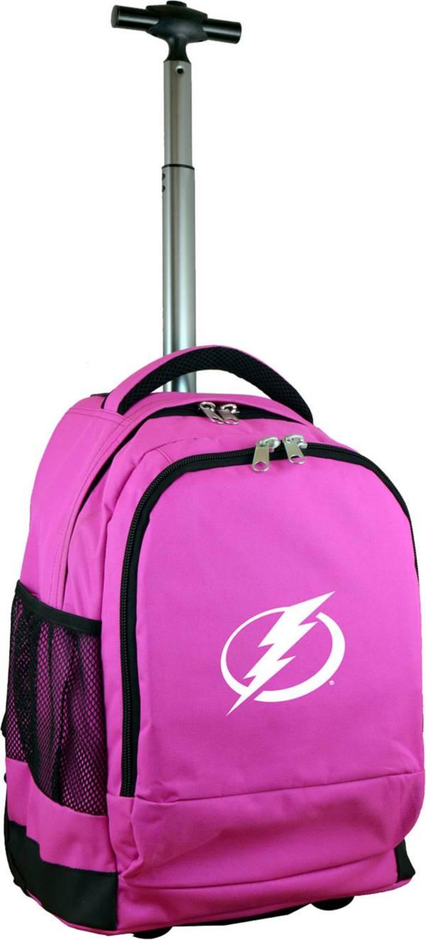 Mojo Tampa Bay Lightning Wheeled Premium Pink Backpack product image