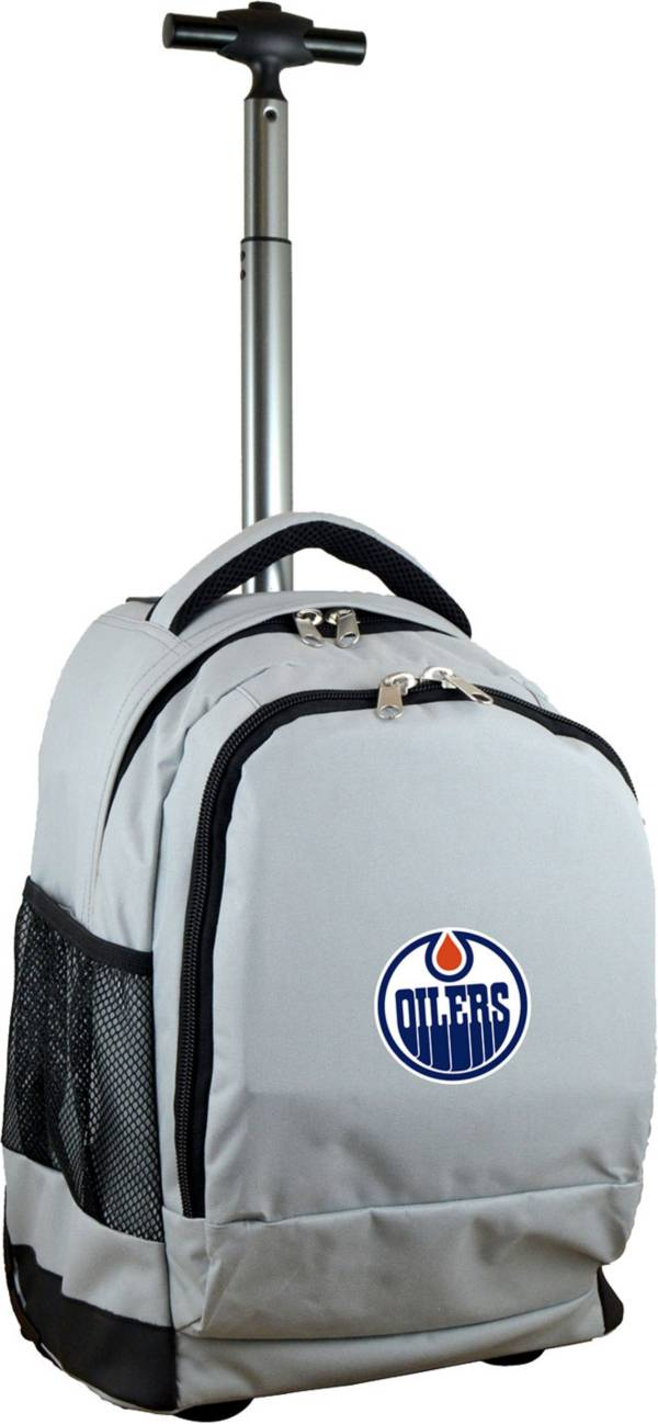 Mojo Edmonton Oilers Wheeled Premium Grey Backpack product image