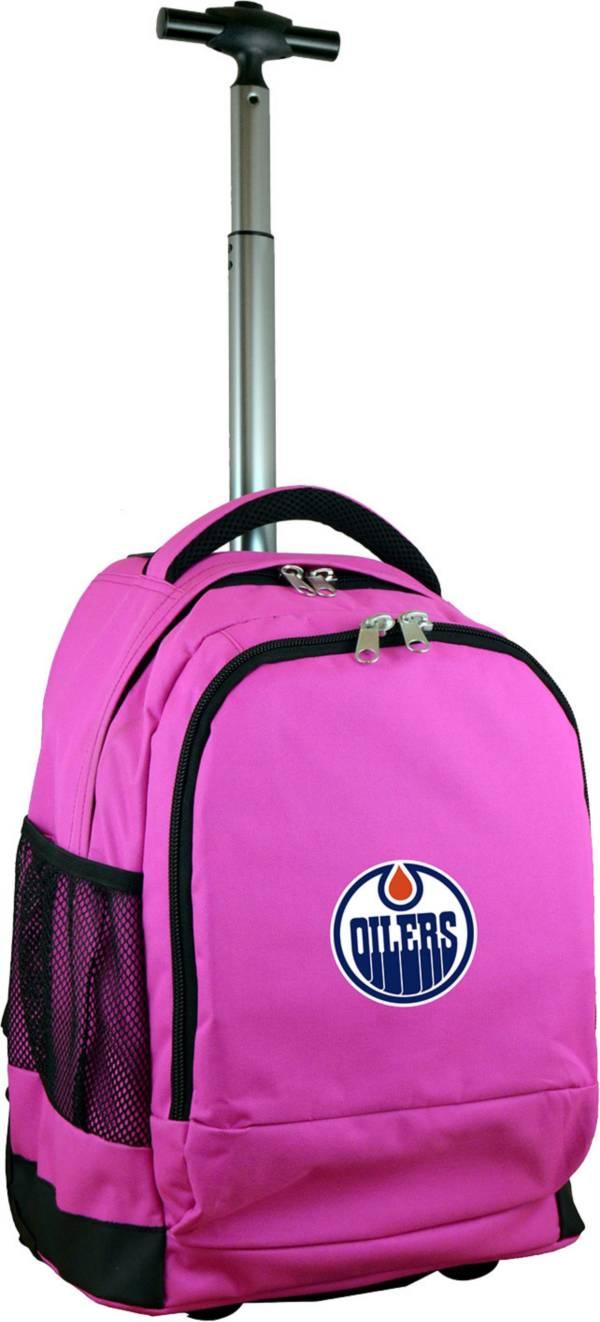Mojo Edmonton Oilers Wheeled Premium Pink Backpack product image