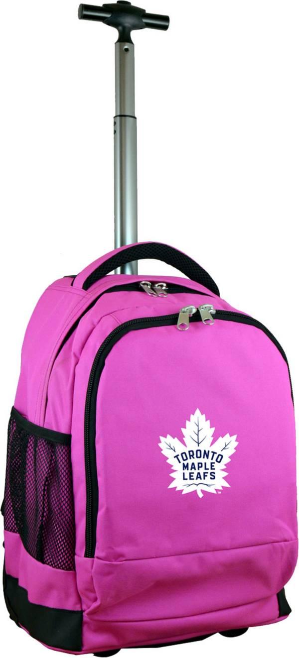 Mojo Toronto Maple Leafs Wheeled Premium Pink Backpack product image
