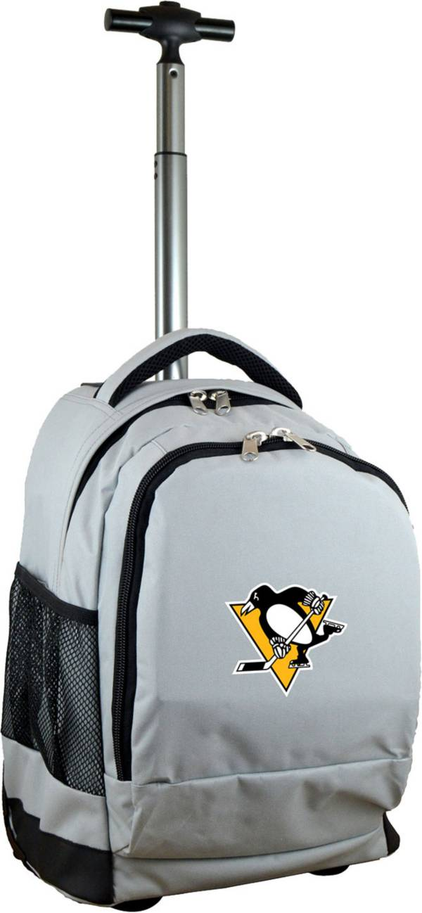 Mojo Pittsburgh Penguins Wheeled Premium Grey Backpack product image