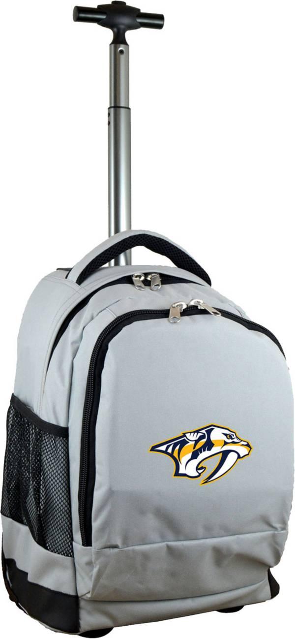 Mojo Nashville Predators Wheeled Premium Grey Backpack product image