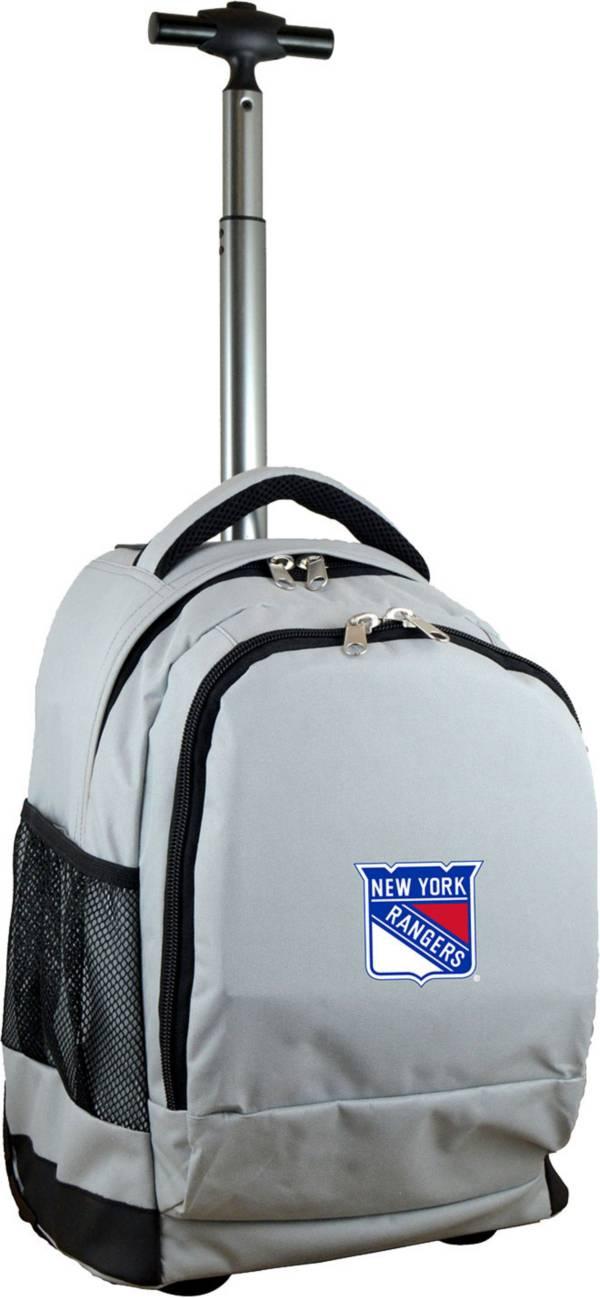 Mojo New York Rangers Wheeled Premium Grey Backpack product image